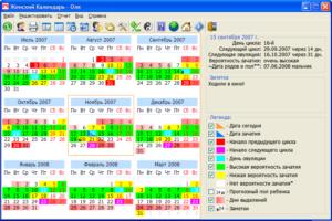 Программа для расчета месячных. Как правильно вести календарь менструации