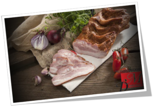 Грудинка копченая калорийность на 100. Грудинка свиная копченая. Использование в кулинарии