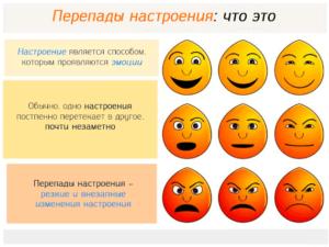 Как справляться с перепадами настроения. Перепады настроения у мужчин: причины
