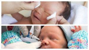 Чем промыть глаза грудному ребенку. Чем протирать новорожденным глазки, и как правильно это делать