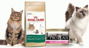Какой кошачий корм лучше. В каком корме для кошек больше мяса. Какие корма для кошек самые лучшие