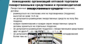 Хранение лекарственных средств с учетом фармакологических групп. V. Особенности организации хранения лекарственных средств в складских помещениях