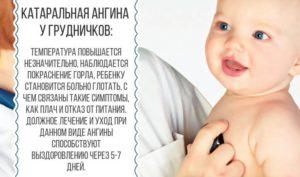 Тонзиллит у грудничка лечение. Ангина у детей до года: правила ухода за больным малышом и лечебная терапия