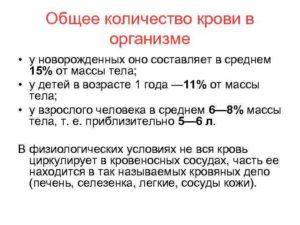 Примерный объем крови взрослого человека. Количество крови в организме взрослого человека: как рассчитать и основные функции. Что делать если началось кровотечение